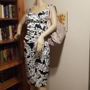 Size 2 London Times Black and White Dress